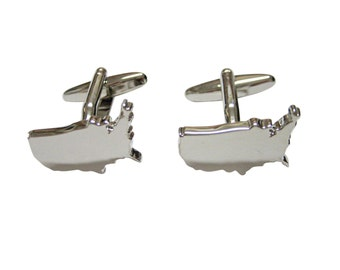 USA America Map Shape Cufflinks