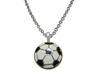 Soccer Ball Pendant Necklace