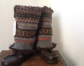 Repurposed Wool Sweater Boot Covers, Boot Sweater