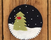 Silent Night - Felt Christmas Ornament