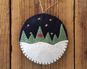 A Midnight Clear - Felt Christmas Ornament