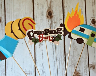 Camping Birthday Party Centerpiece, Outdoors Party Decorations, Camp Out Birthday Centerpiece