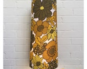 Vintage 70s Style Flower Power Tall Conical Lampshade Fat Lava
