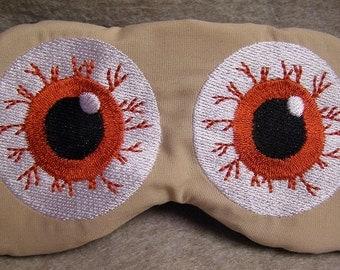 Embroidered Eye Mask for Sleeping, Cute Sleep Mask for Kids, Adults, Sleep Blindfold, Slumber Mask, Custom, Eye Design, Handmade