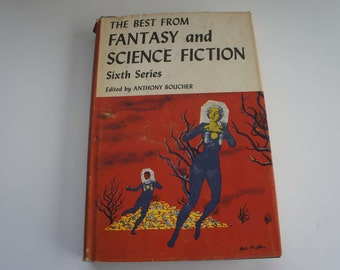 Vintage 1950s Science Fiction Book Great Graphics Pulp Fiction with Ray Bradbury