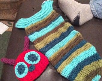 Crochet Caterpillar Baby Cocoon & Hat - PDF Download - Digital Download
