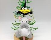Spirited away Boh and Yu christmas ornament holiday decor, christmas tree decoration, geeky ornament