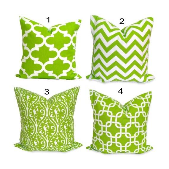 GREEN Pillows Green Pillow Cover Decorative Pillow Green