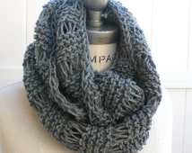 Grey Knit Scarf Top Shop  Best selling item Knit Infintiy Scarf   Most Popular Items Winter Neck warmer - By PIYOYO
