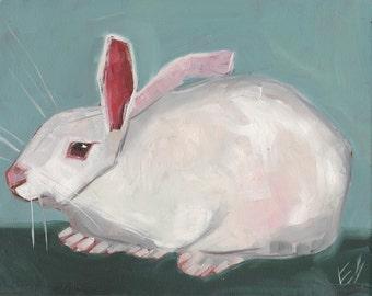 White Rabbit original Oil Painting