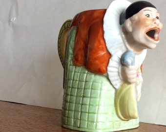 Vintage 1930's French Pierrot Porcelain Jug