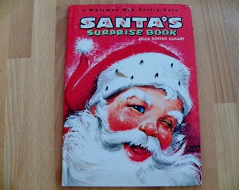 1966 Vintage Whitman Childrens Book SANTA'S SURPRISE BOOK in great condition