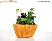 ON SALE Vintage  Mustard Yellow Planter