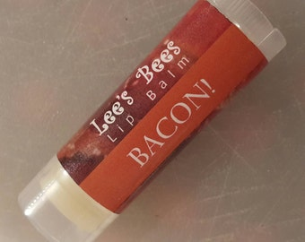 Bacon! Lip Balm - Unique Flavor Beeswax Lip Salve Chapstick from Lee the Beekeeper