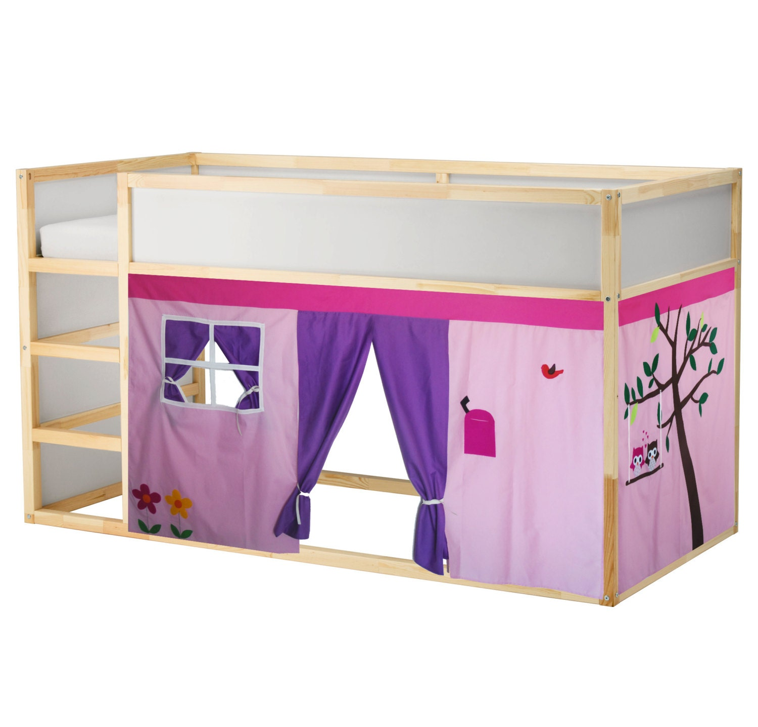 Owl Bed Playhouse Bed Tent Loft Bed By Creativeplayshop