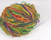 Earth rainbow. Hand painted soft merino yarn  10ply Worsted  100 grams 3.5 ounces