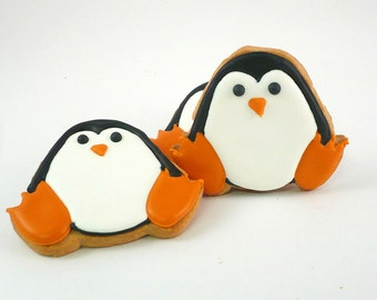 Decorated Cookies - Penguin - 1 dozen