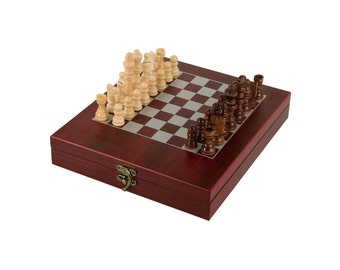 Wooden Chess Game Set- Personalized Chess Game Set (CLOSEOUT ITEM)