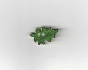 Clearance - Green Leaf Button by Mill Hill, #86188U