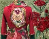vest, jacket embroidered nostalgic unique artwork