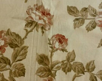 READY TO SHIP -  Cotton Muted Rose Fabric