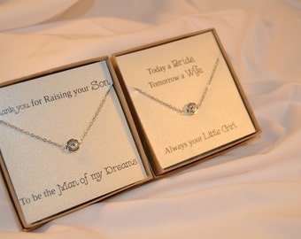 Set of Two Swarovski Mother of the Bride and Groom Necklaces