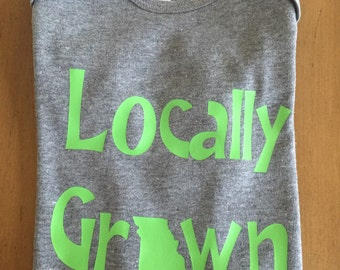 Locally Grown Missouri onesie, Locally grown onesie, Locally grown shirt