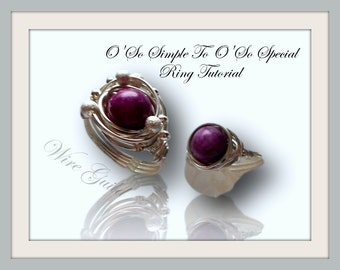 Oh So Simple - TO - Oh So Special  Beaded Wire Wrap Ring Tutorial