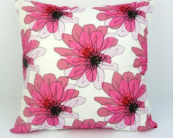 Distorted Pink Flower Cushion - Vicki Evans Design