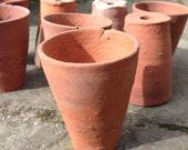 Terracotta plant pot tiny vintage flower pot clay pot succulent pot vintage planter