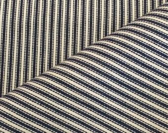 Denim Fabric / Denim Ticking Fabric / Blue Ticking Fabric / Cotton Ticking Fabric
