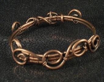 Copper swirl bracelet
