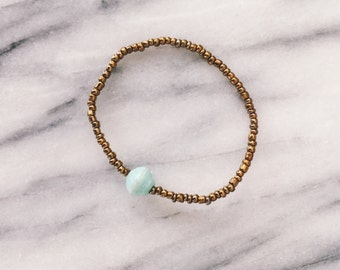 Mint Single Bead Bracelet