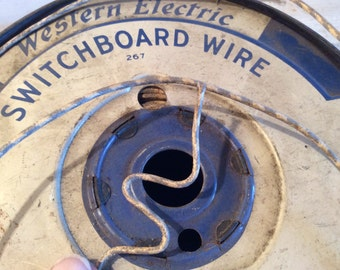 Switchboard Wire, Phone Line, Cloth Covered Wire, Supplies, Reclaimed, Vintage, 1940, 3 Yards, Craft Supply, Altered Art, Telephone, Phone