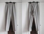 Vintage 80s Women Gray Pants Gray Stripes