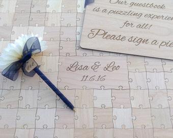 200 pieces Custom Wedding Puzzle Wedding Guest Book