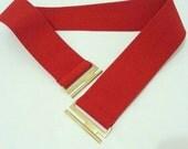 Red Elastic Belt, Waist Belt, Red Waist Belt Plus size belt, Plus size red belt, Oversize red belt, Oversize belt