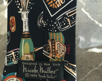Sale--Vintage Nicole Miller Millenium New Years Eve Necktie