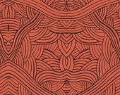 Australian Indigenous Fabric: Untitled in Red