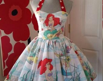 Custom Made to Order  Little mermaid Ariel  Sweet Heart Dress Sz X-Small to 3X