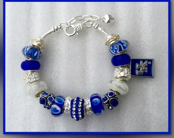 University of Kentucky Wildcat Charm Bracelet