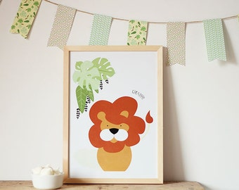 Lion printable wall art