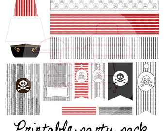 Printable party pack pirates