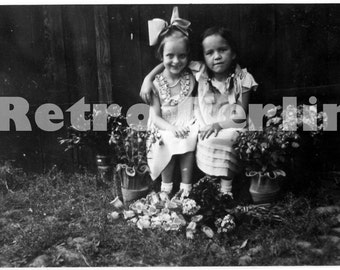 Vintage Photos of Children 1930s, Children in the garden, Girl on Bike, At the lake, Collector Photos