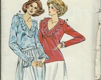 ON SALE Kwik Sew 897 Kwik & Easy Ladies Ruffled Top Pattern, Size 14-20 UNCUT