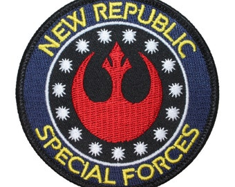 """Star Wars """"New Republic: Special Forces"""" Rebel Alliance Embroidered Iron On Patch"""
