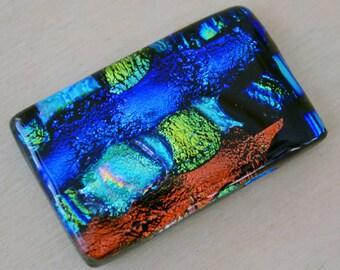 Dichroic Glass Cabochon - Rectangle- Brilliant Colors