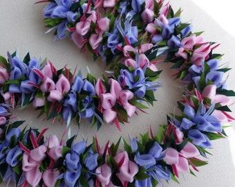 Crocus flower ribbon lei