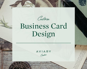Business Card Design / Custom Brand Design for Small Business by Aviary Creative