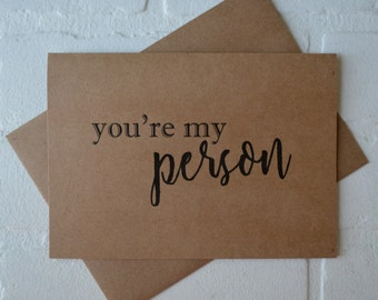 Youre MY PERSON will you be my MAID of honor card bridal card be my bridesmaid card bridal party card greys anatomy saying my person card